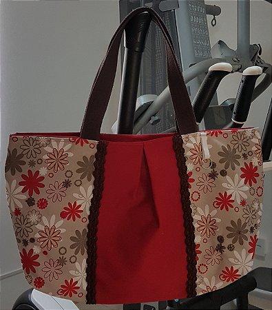 Bolsa de tecido vermelha