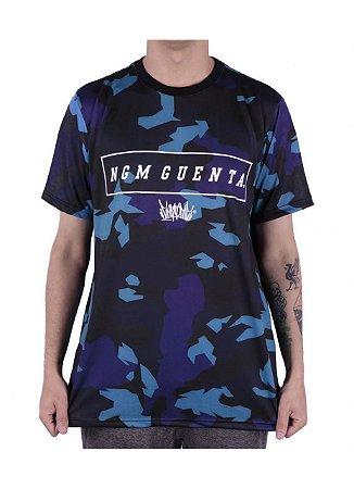 Camiseta Chronic Camuflada Azul