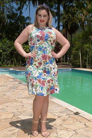 Vestido Plus Size estampado