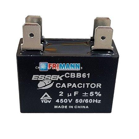 Capacitor 2 Uf  Ventilador 450 vac  Ar Condicionado Split