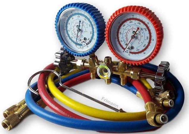 Manifold  Refrigeração Ar Condicionado R12/r22/r134a/404