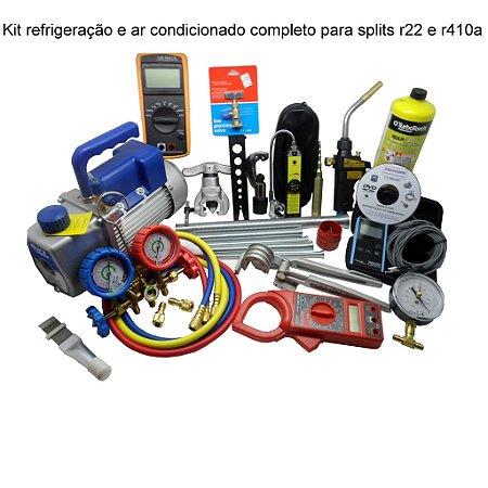 Kit Ferramentas Refrigeração Ar Cond Bomba De Vácuo,manifold
