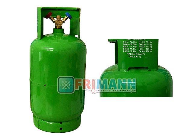 Tanque para Recolhedora e Recicladora De Gás Refrigerante 12,5 litros
