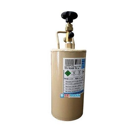 Cilindro Garrafa Para Transporte de Gás Refrigerante 1 Kg