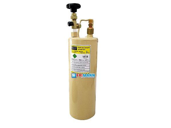 Cilindro Garrafa Para Transporte e aplicação de Gás Refrigerante 2 Kg 141b Ecomat