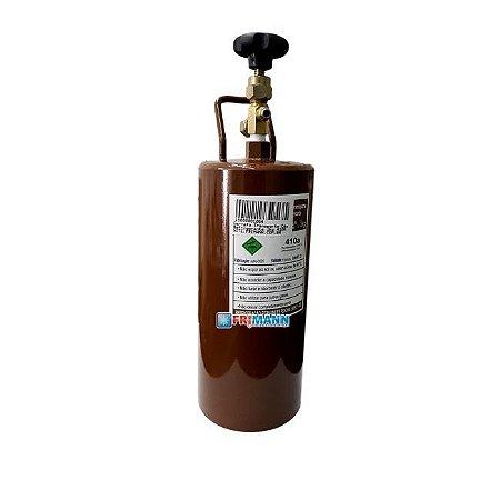 Cilindro Garrafa Para Transporte de Gás Refrigerante 01 Kg 410a