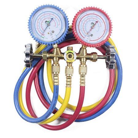 Manifold Para Gases R600 R290 C/3 Mangueiras 90cm - Ecotools