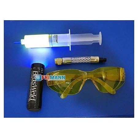 Kit Lanterna Uv Detector De Vazamento + Óculos.
