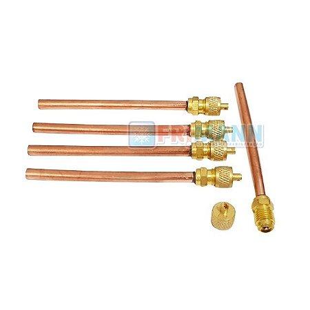 Válvula De Serviço Refrigeração Schrader 1/4 C/100mm P 0.7mm
