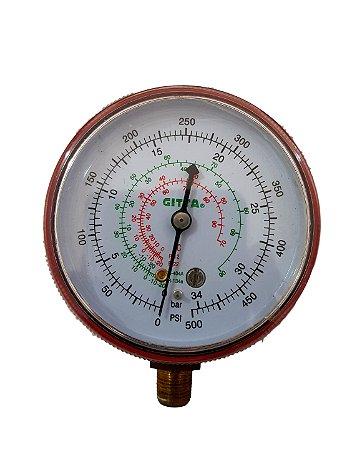 Manômetro Refrigeração Alta Pressão R12 R22 R404a R134a
