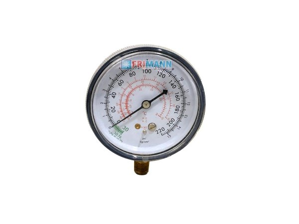 Manômetro Refrigeração Baixa R22 R12 R502