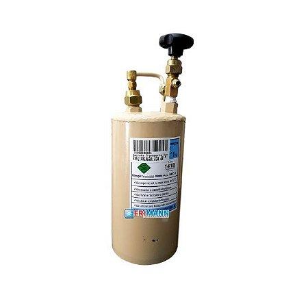 Cilindro Garrafa Para Transporte e aplicação De Gás Refrigerante 1 Kg 141b Ecomat