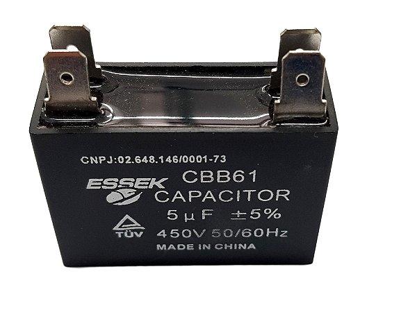 Capacitor 5 Uf Ventilador 450vac P/ Ar Condicionado Split