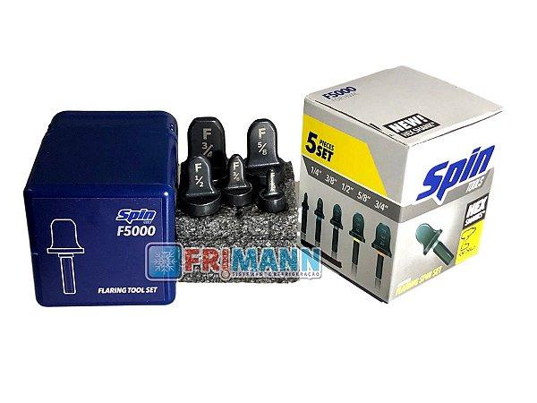 Flangeador Spin Kit 5 Peças 1/4 3/8 1/2 5/8 E 3/4