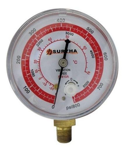 Manômetro Refrigeração ALTA Pressão R410a Suryha
