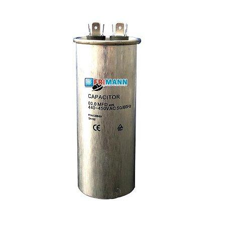 Capacitor Ar condicionado Refrigeração 60.0 MFD  450 Vac