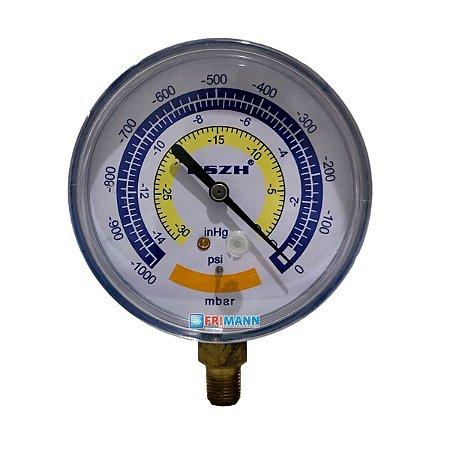 Vacuômetro Analógico Refrigeração mbar psi inHg