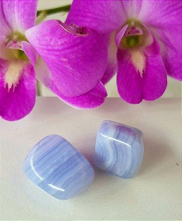 Ágata blue lace / azul rendada