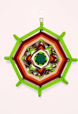 Mandala de lã 30cm