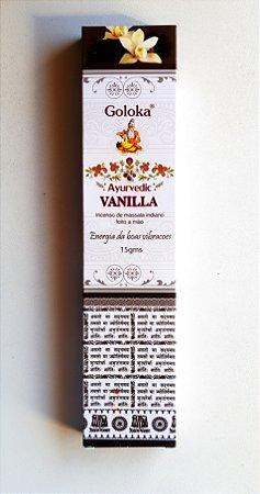 Incenso Goloka Ayurvedic Vanilla - massala