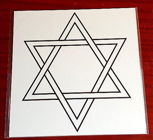 Gráfico Hexagrama / Estrela de Davi - PVC