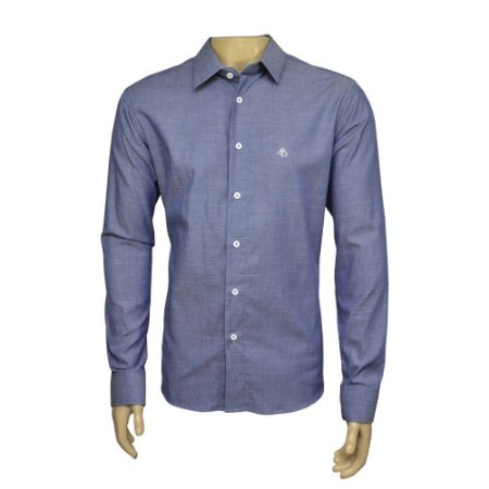 Camisa Slim Jeans Maquinetada