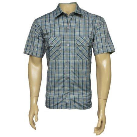 Camisa Sport Masculina Xadrez Cinza