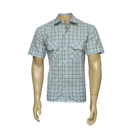 Camisa Sport Masculina Xadrez Branca