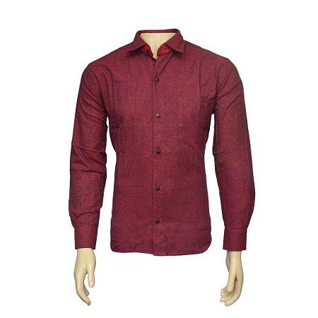 Camisa Flanela Masculina Vinho