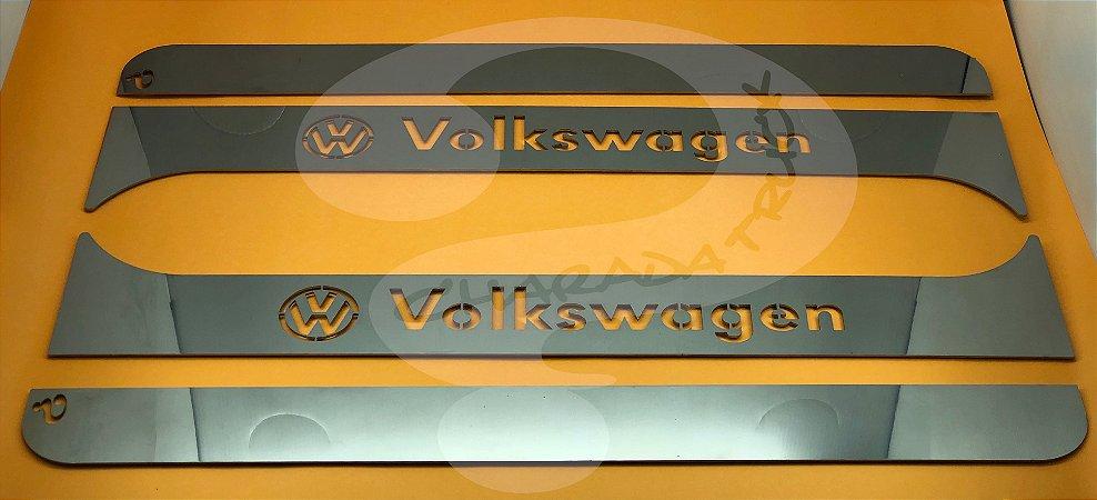 Aplique/Acabamento CHARADA em Inox da Coluna da porta VW Worker/Delivery (Par)