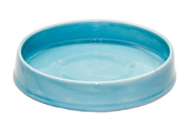 Bandeja em Cerâmica Azul Antigo 21 cm