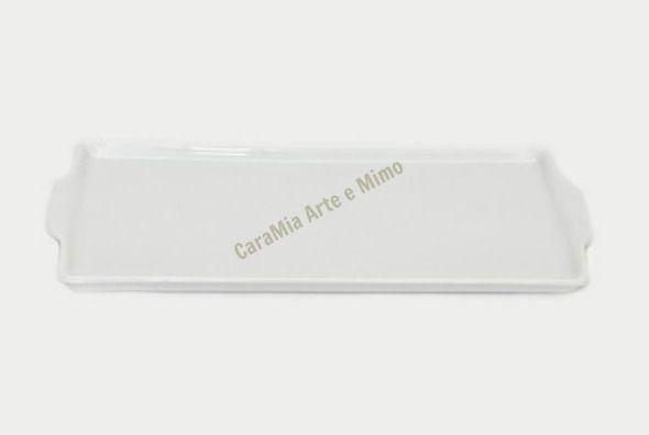 Bandeja em Porcelana Branca Retangular para kit com 3 a 4 peças