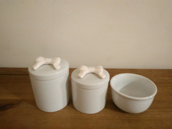 Kit Higiene Bebê Porcelana| Laço Branco| 3 peças