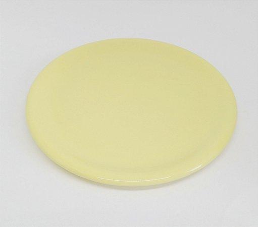 Bandeja Cerâmica Amarela 30 cm para Kit e para garrafa