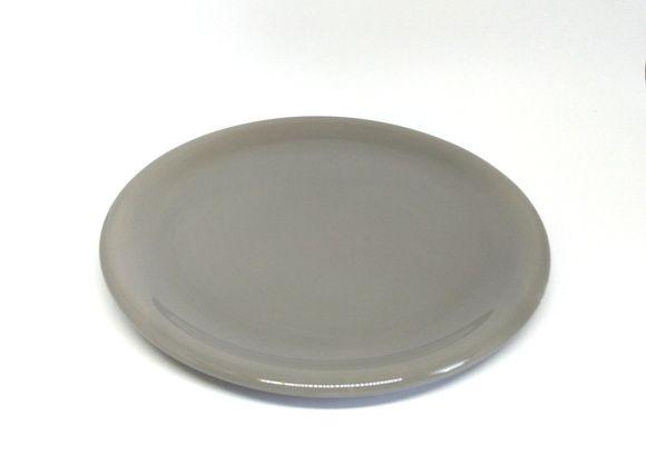 Bandeja em Cerâmica Cinza para Kit e para Garrafa 30 cm