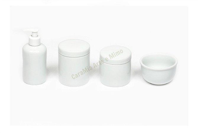 Kit Higiene Bebê Porcelana| Paz para o Bebê | 4 Peças