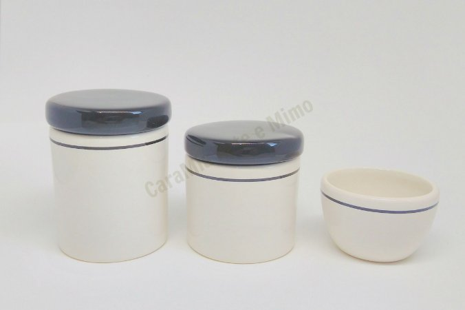 Kit Higiene Bebê Cerâmica| Branco e Preto | 3 Peças