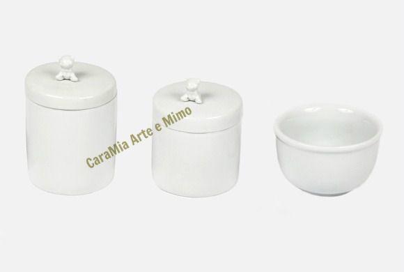 Kit Higiene Bebê Porcelana | Paz dos Ursinhos|3 peças