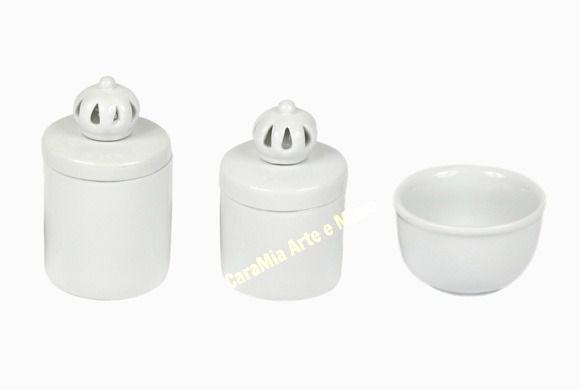 Kit Higiene Bebê Porcelana | Um Reinado Coroa Branquinha| 3 Peças |