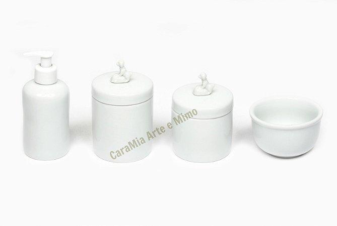 Kit Higiene Bebê Porcelana|Meu Cachorrinho | 4 Peças |