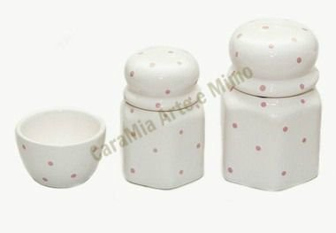 Kit Higiene Bebê Cerâmica | Poá Rosa | 3 Peças |
