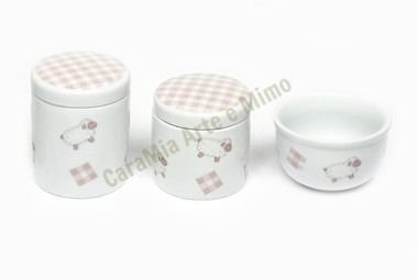 Kit Higiene Bebê Ovelhinha Rosa 3 peças
