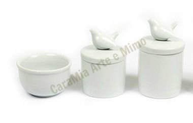 Kit Higiene Bebê Porcelana | Pássaros Grandes | 3 Peças |