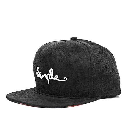 Boné Simple Snapback Camurça Black