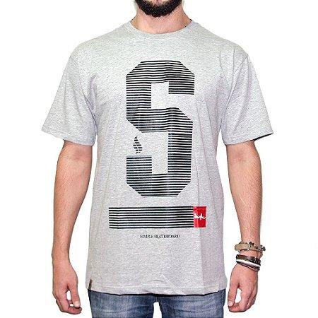 Camiseta Simple Skate Lines Letter