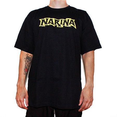Camiseta Narina Skateboards Logo Preta