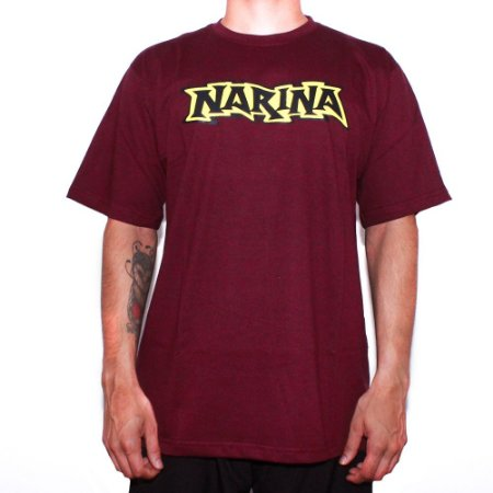 Camiseta Narina Skateboards Logo Vinho