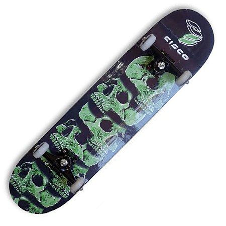 Skate Montado Cisco Pro Skull Green