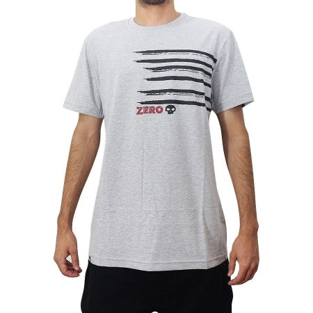 Camiseta Zero Skateboards Scratched Mescla