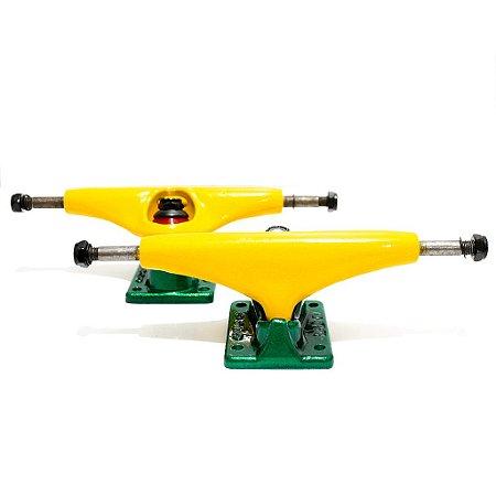Truck Cisco Skate Amarelo e Verde 139mm